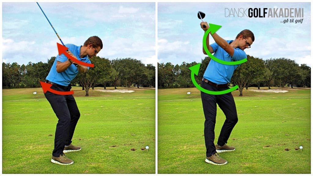 Slå længere i golf - Drej kroppen