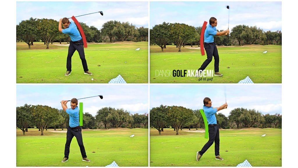 Slå længere i golf - stræk kroppen ud