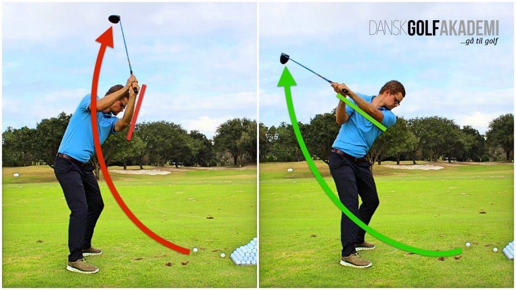 Slå længere i golf - Sving rundt om dig selv