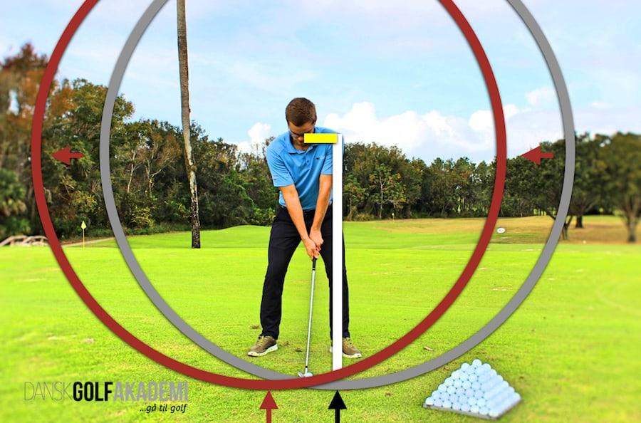 Slår i jorden i golf - golfsvinget 2